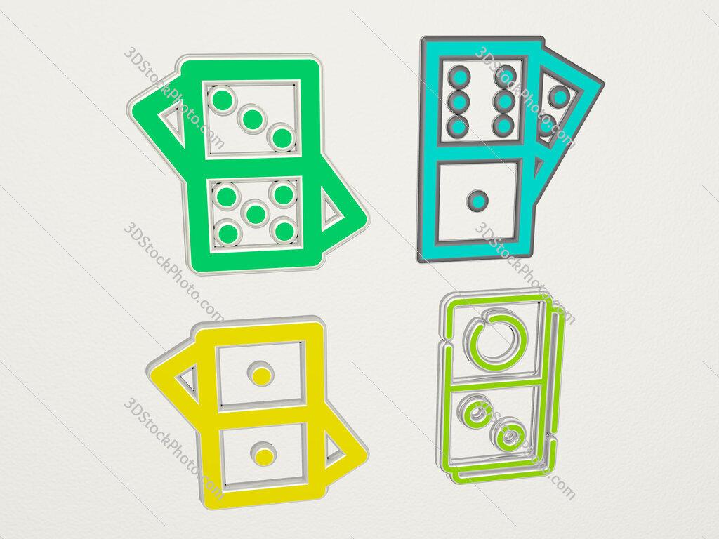 domino 4 icons set