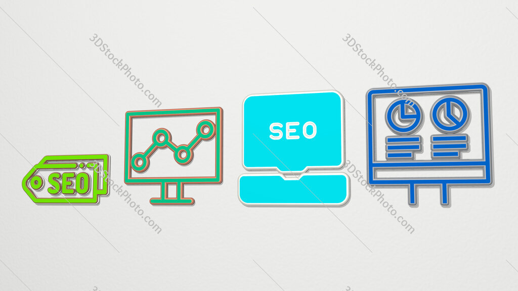 seo 4 icons set