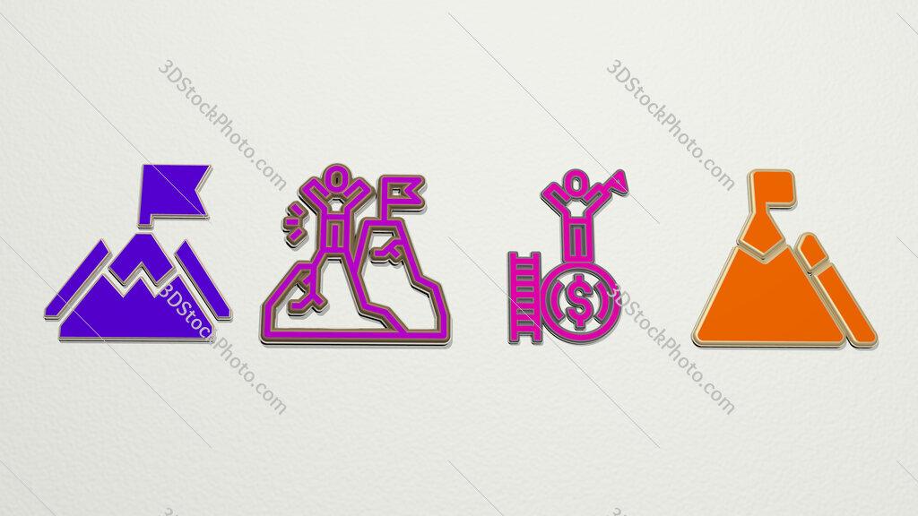 mission 4 icons set