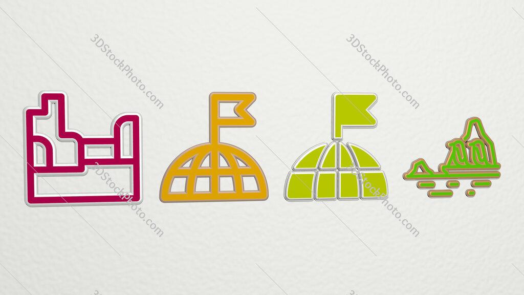 Arctic 4 icons set
