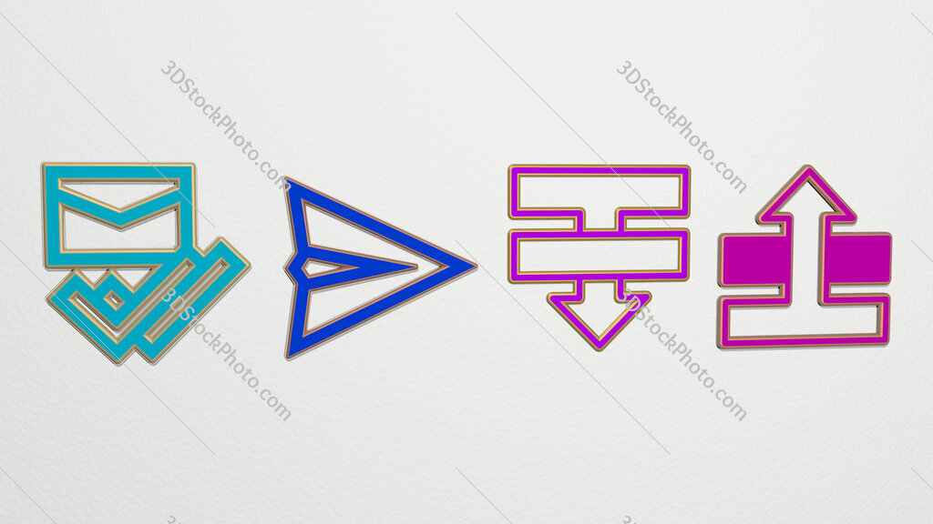 Sent 4 icons set