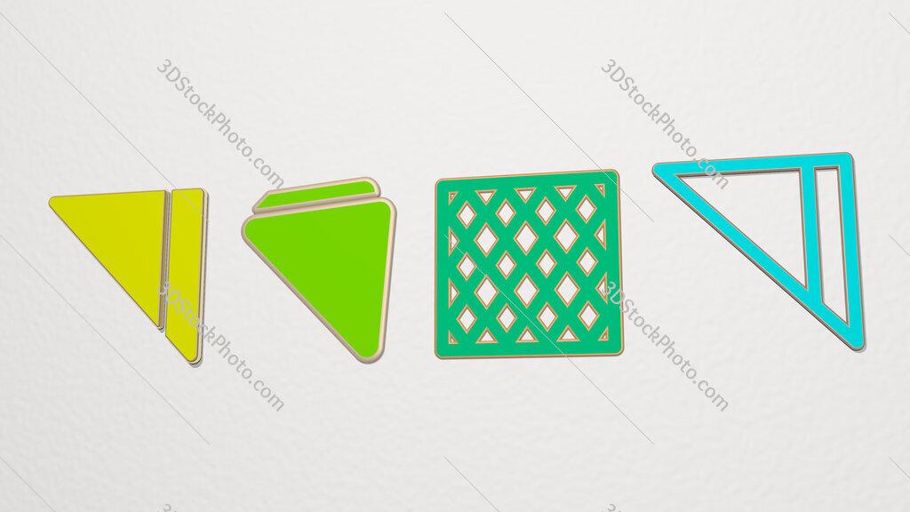 napkin 4 icons set
