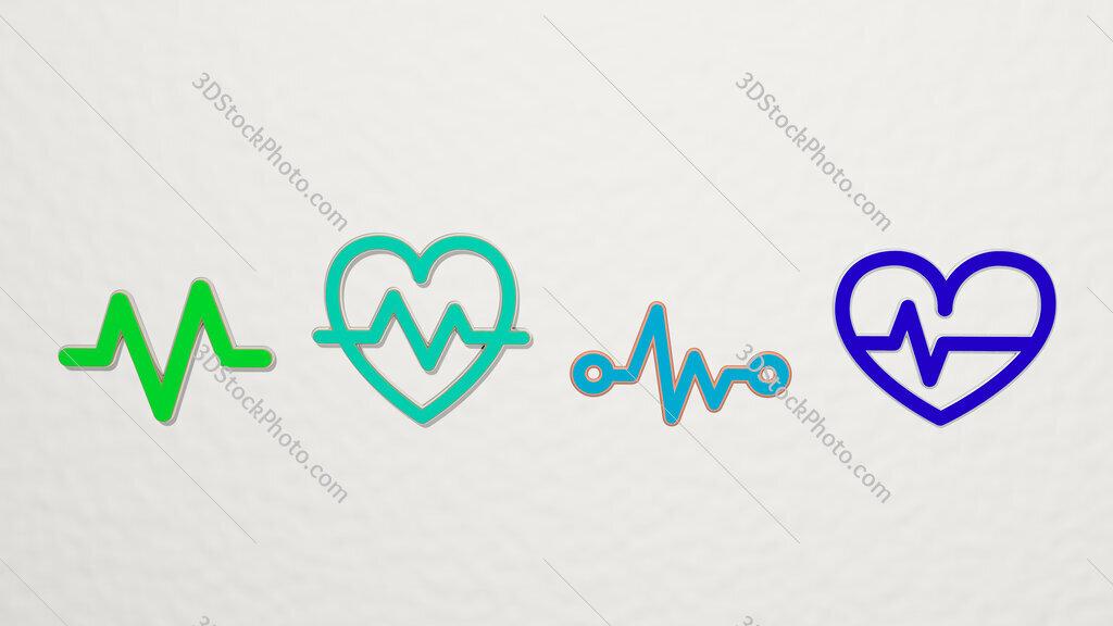 pulse 4 icons set