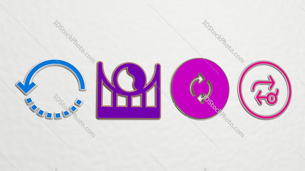 loop 4 icons set