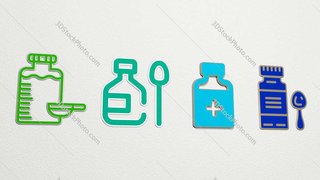 syrup 4 icons set