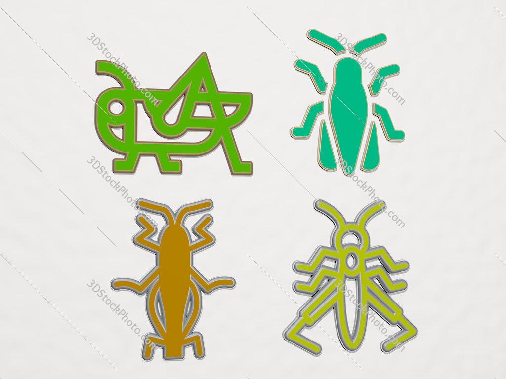 grasshopper 4 icons set