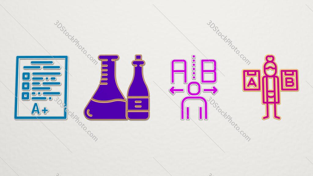 testing 4 icons set