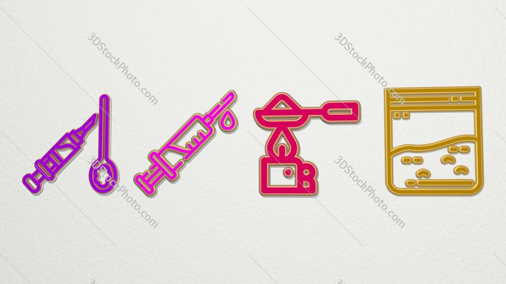 Heroin 4 icons set