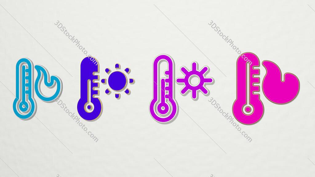WARM 4 icons set