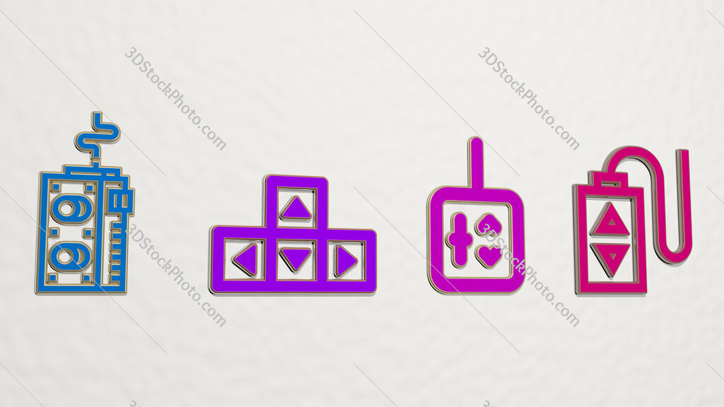 controller 4 icons set