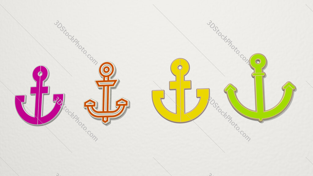 navy 4 icons set