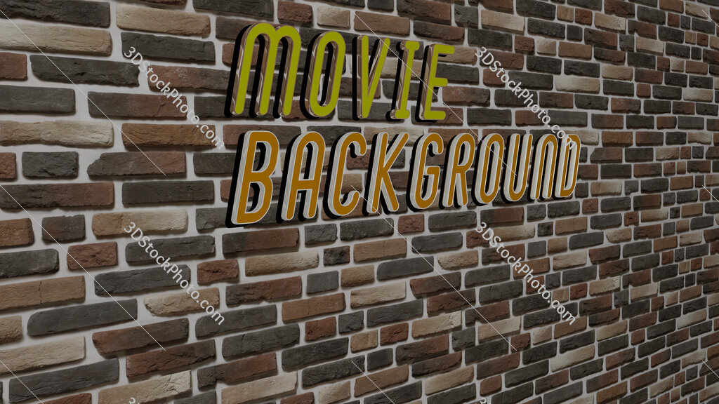 movie background text on textured wall