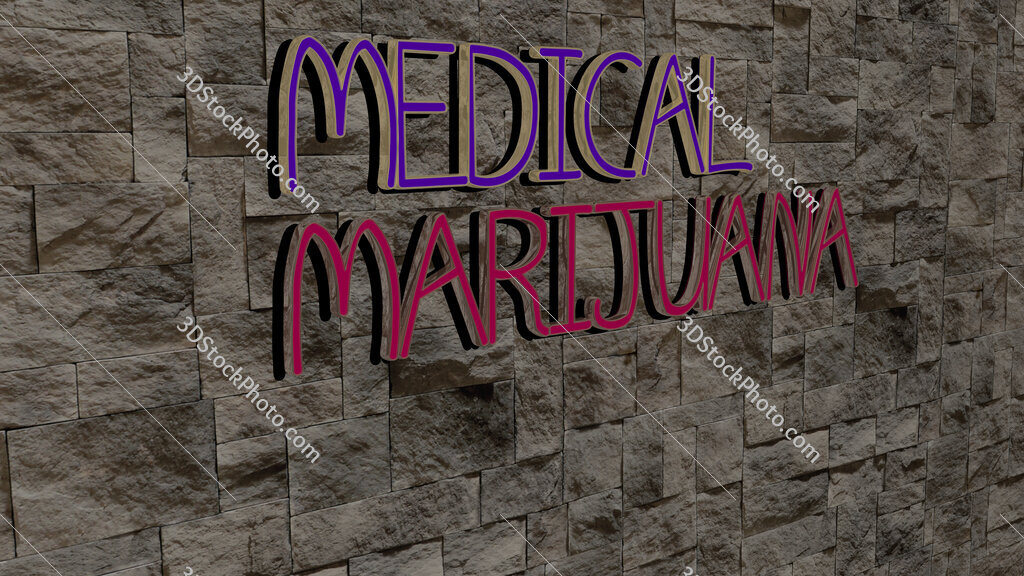 medical marijuana text on textured wall