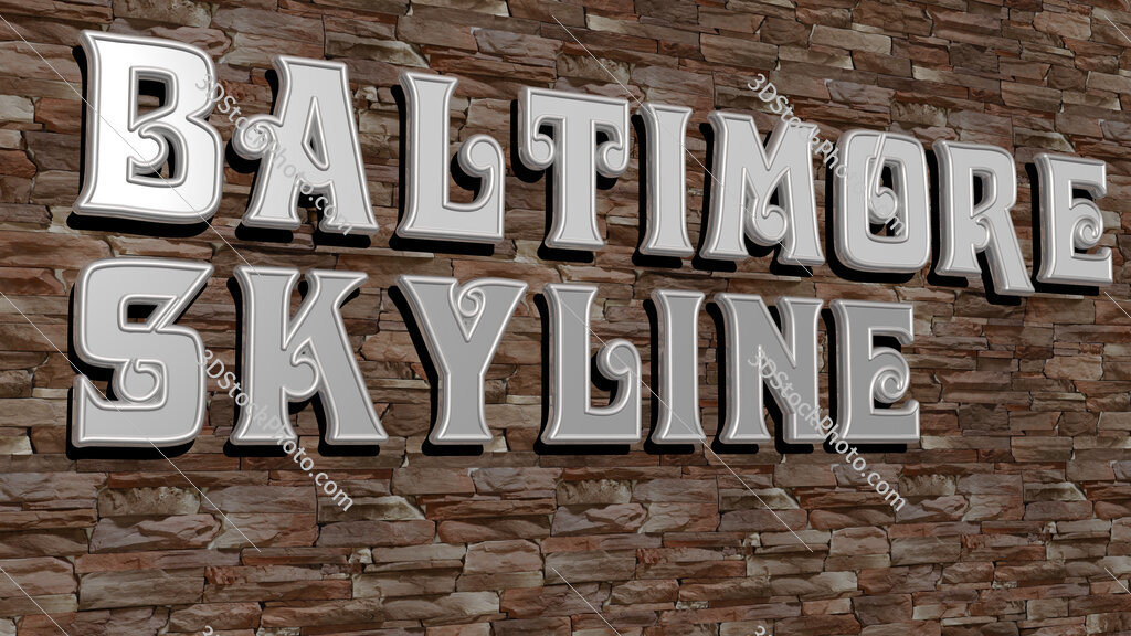 baltimore skyline text on textured wall