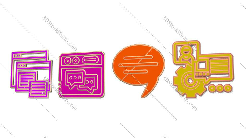 forum 4 icons set