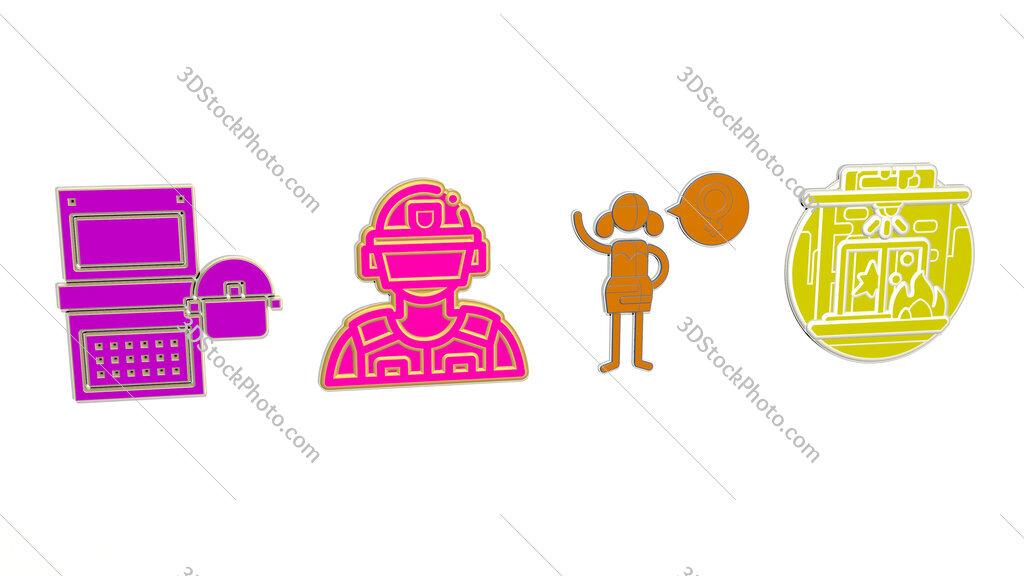 riot 4 icons set