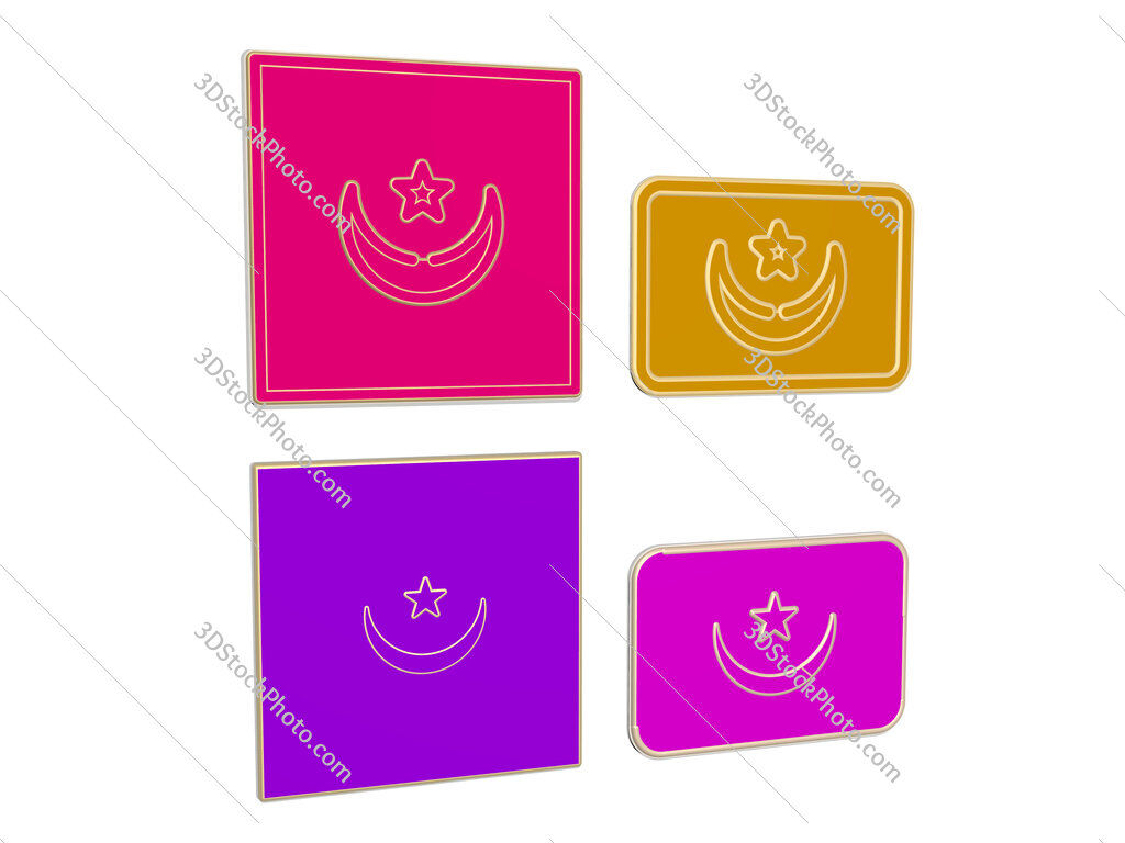 mauritania 4 icons set