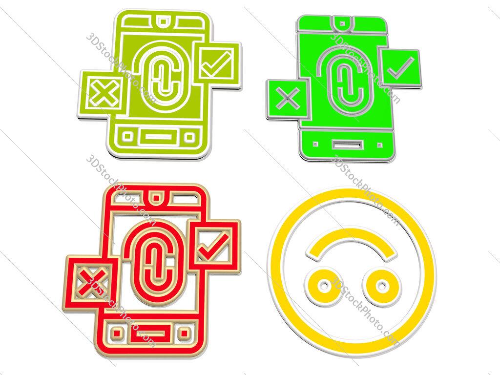 False 4 icons set