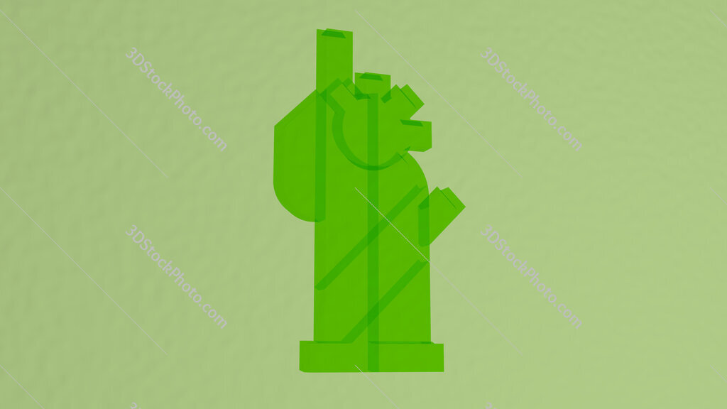 statue of liberty 3D icon on the wall