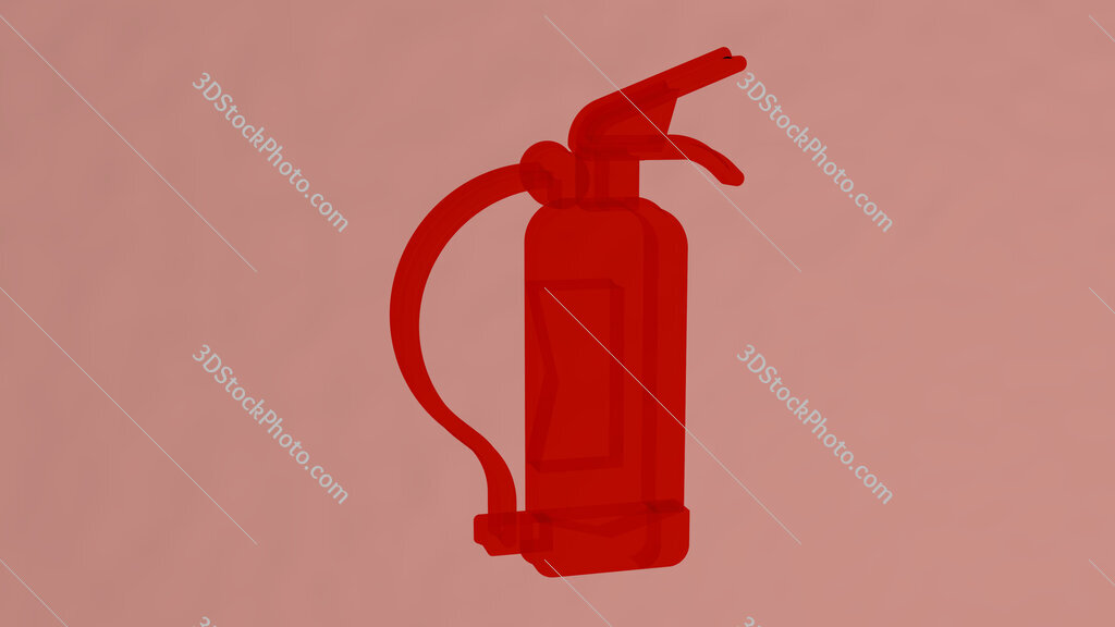 fire extinguisher 3D icon on the wall