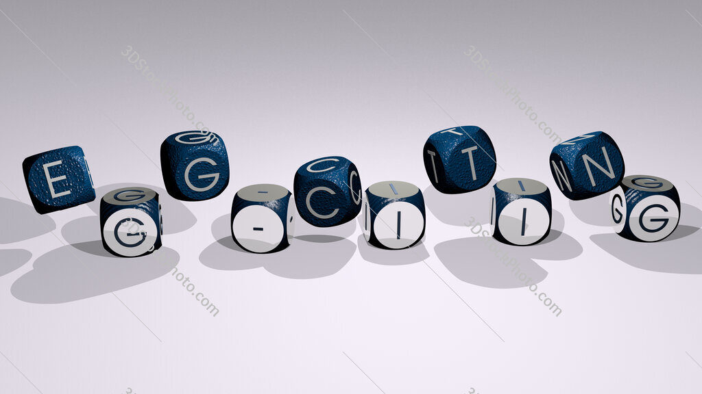 egg-citing text by dancing dice letters