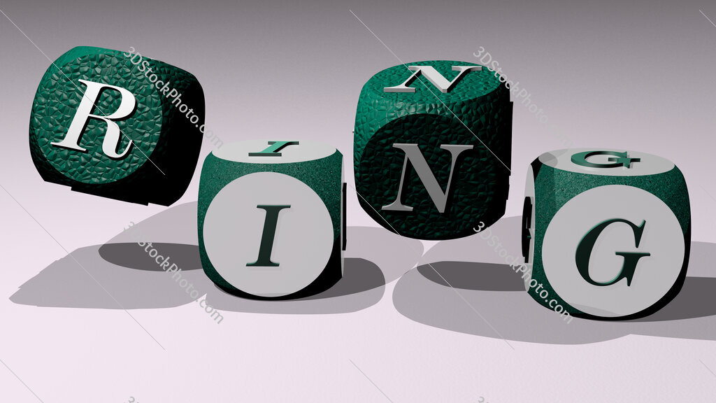 ring text by dancing dice letters