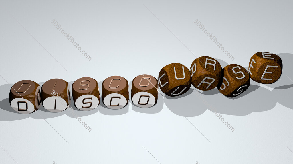 discourse text by dancing dice letters