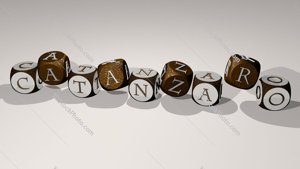 Catanzaro text by dancing dice letters
