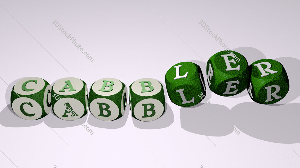 cabbler text by dancing dice letters