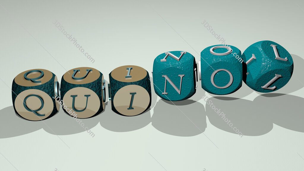 quinol text by dancing dice letters