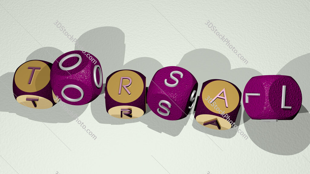 torsal text by dancing dice letters