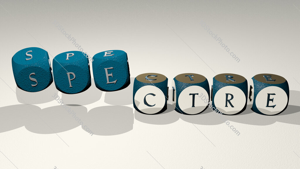 Spectre text by dancing dice letters
