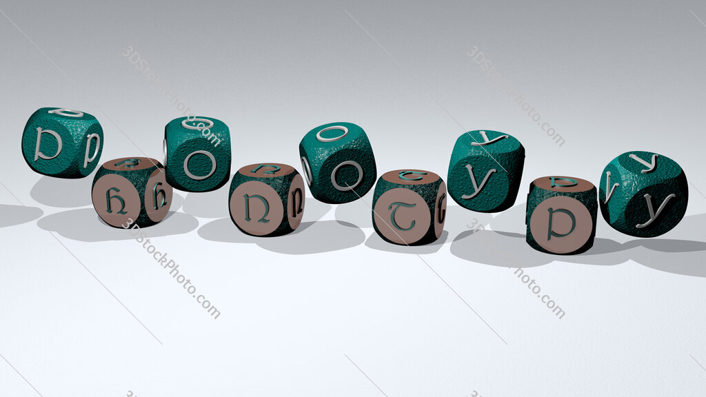 phonotypy text by dancing dice letters