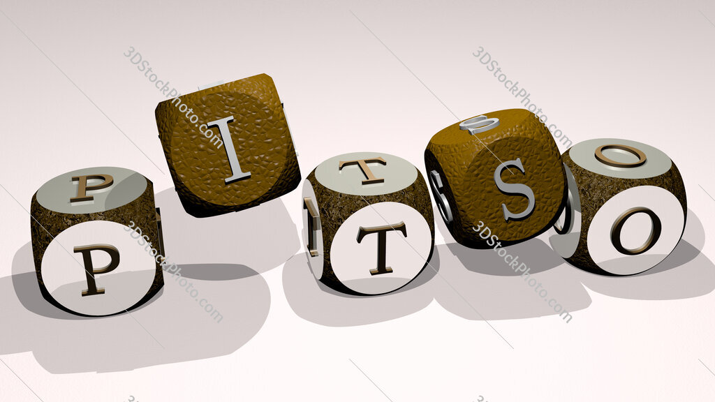 pitso text by dancing dice letters