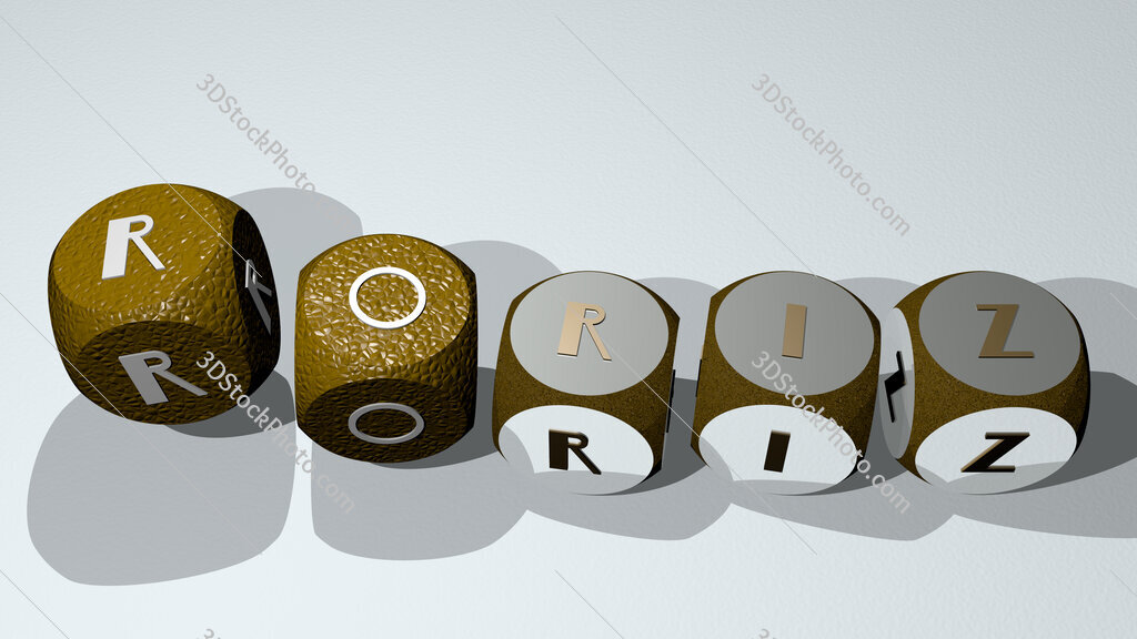 Roriz text by dancing dice letters