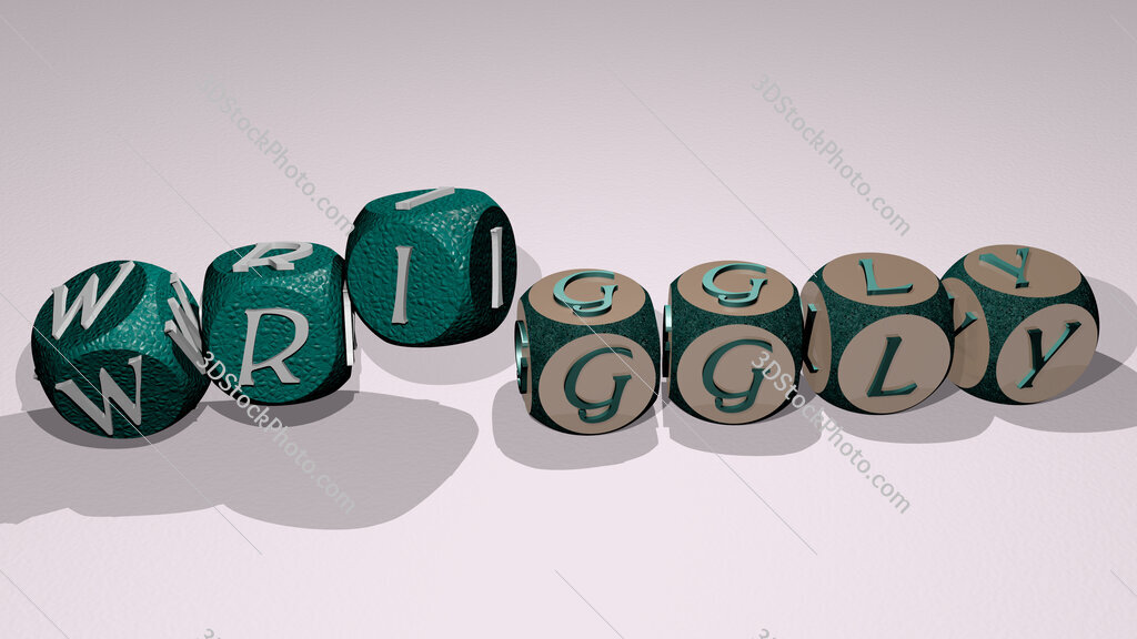 wriggly text by dancing dice letters