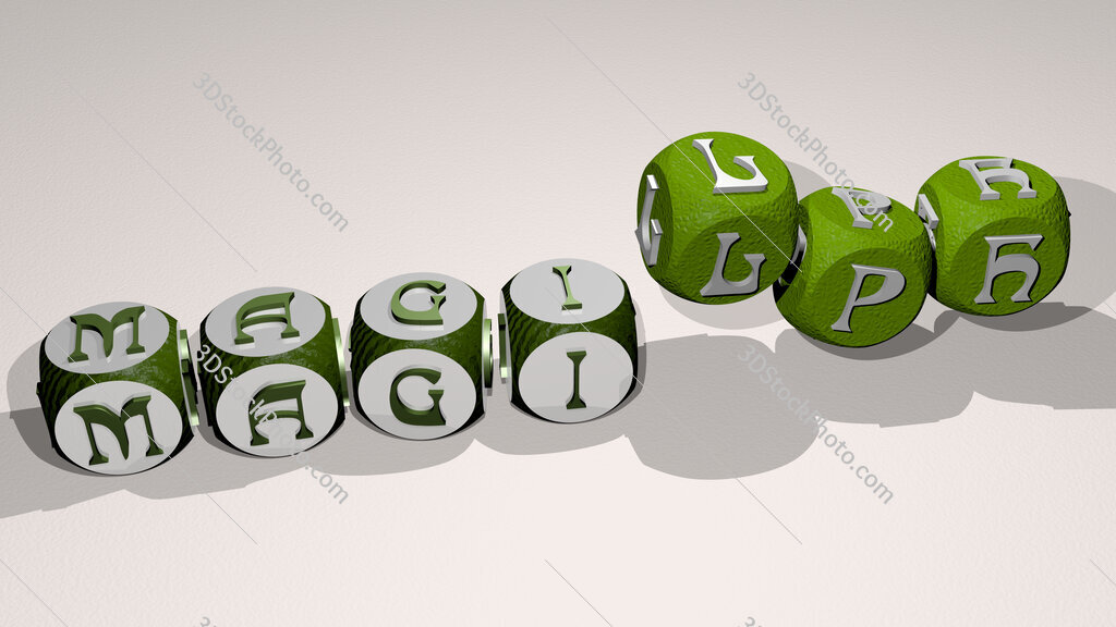 magilph text by dancing dice letters