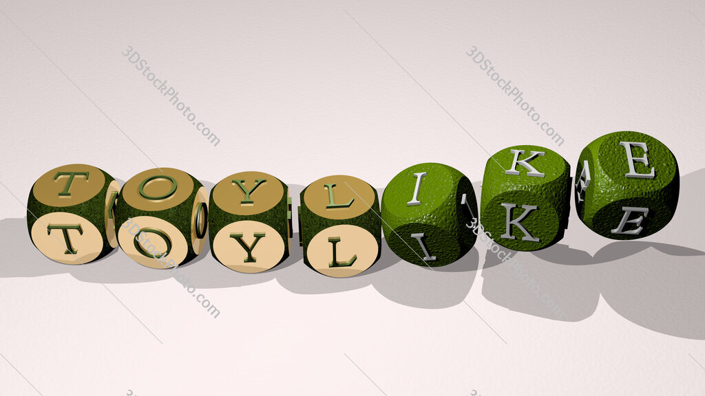 toylike text by dancing dice letters