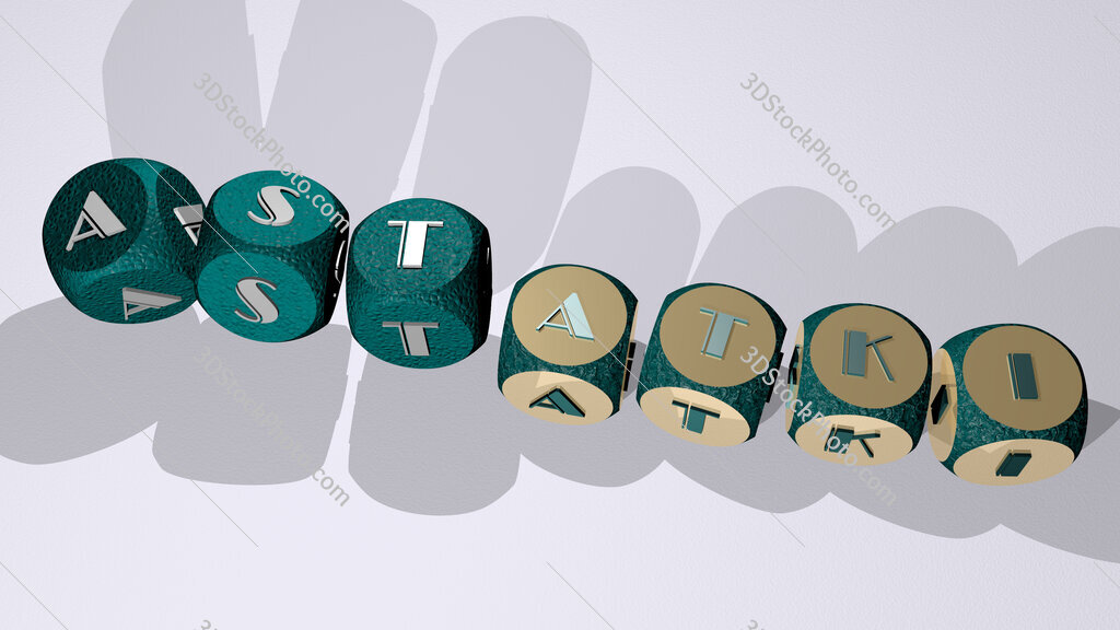 astatki text by dancing dice letters