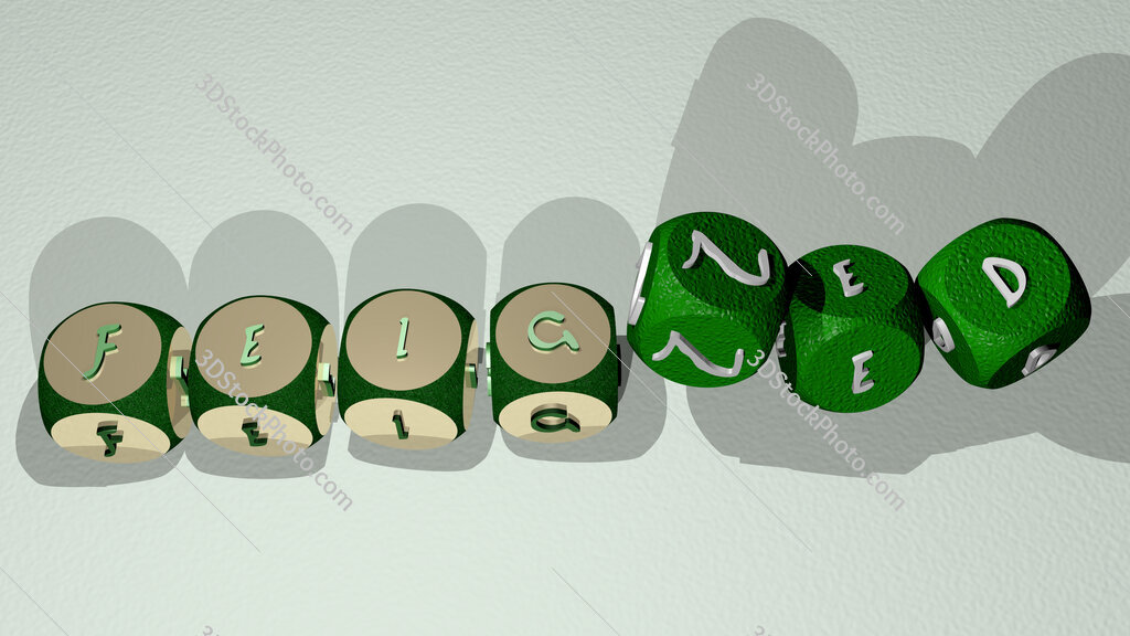 feigned text by dancing dice letters