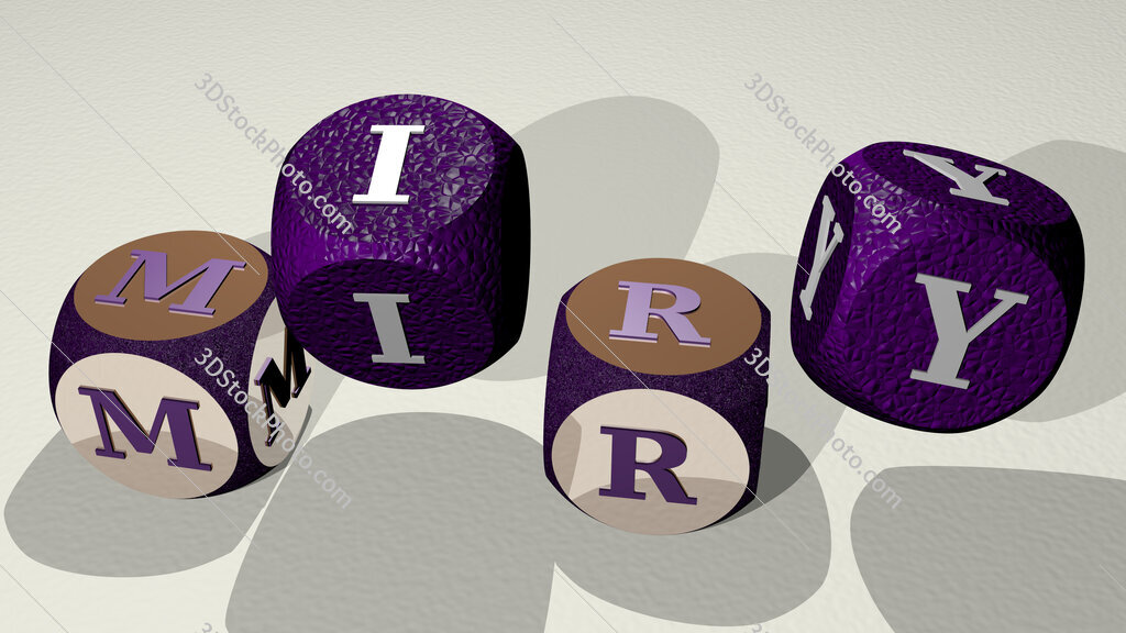 miry text by dancing dice letters