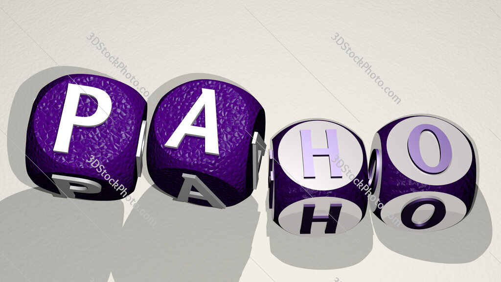 paho text by dancing dice letters