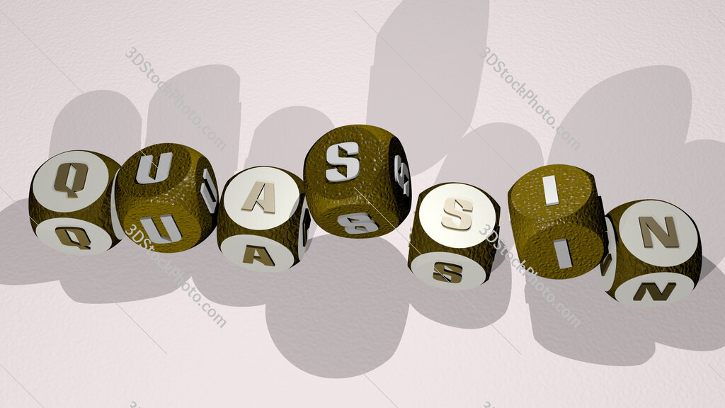 quassin text by dancing dice letters