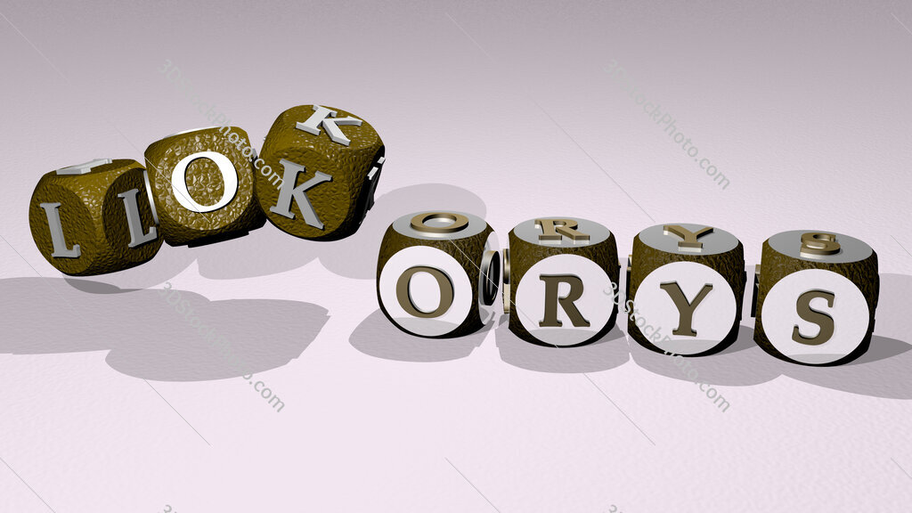 lokorys text by dancing dice letters