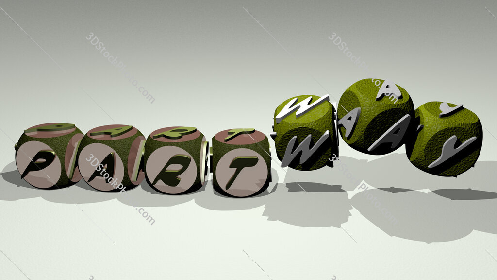 partway text by dancing dice letters
