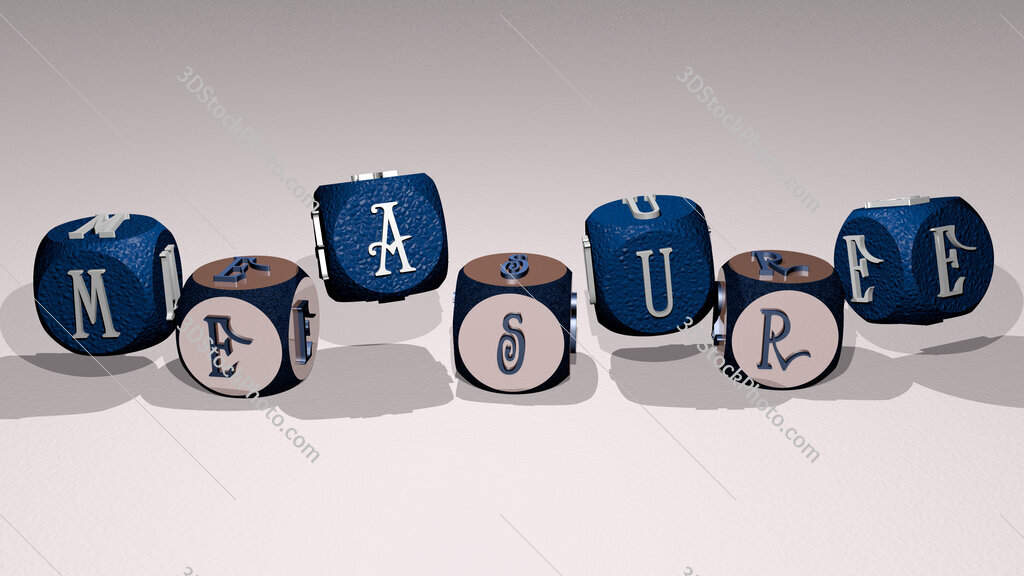 measure text by dancing dice letters