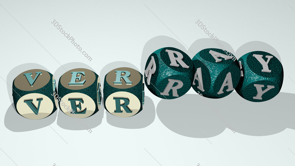 verray text by dancing dice letters