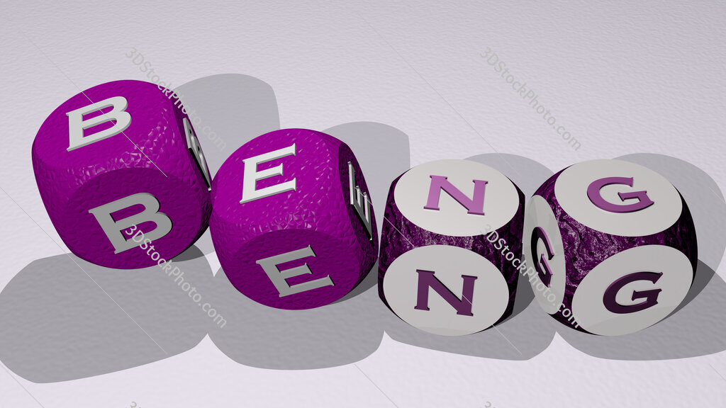 BEng text by dancing dice letters