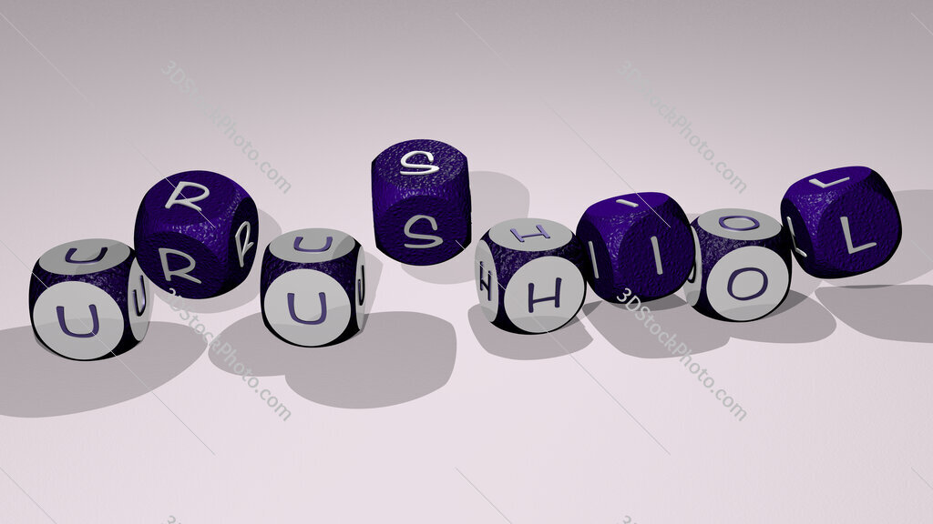 urushiol text by dancing dice letters