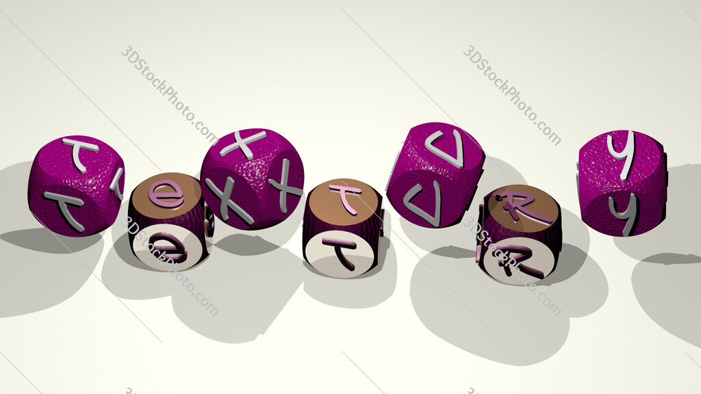 textury text by dancing dice letters